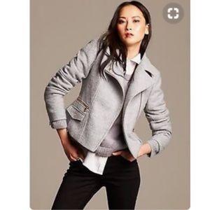 Banana Republic Wool Gray Moto Jacket
